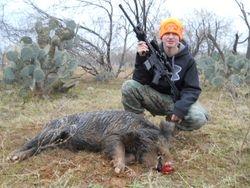 Dakota's First TX Boar Hog