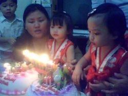 Birthday Fina anak Cath & Eva anak Ana.