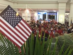 Honor Flight Return at Columbia Airport May 7th, 2014