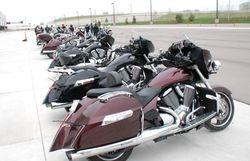 Victorys, Indians, a Kawasaki and a Harley