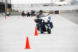 Indian Chieftain on the high speed cone weaving course.