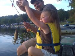 Emma's First Fish from Schnable Lake!!!
