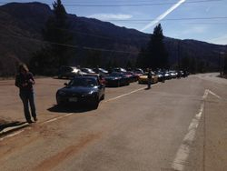 Getting everyone together before we drive up the mountain.