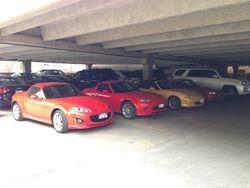 Parking in the garage.