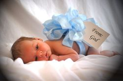 my one month old son kaden