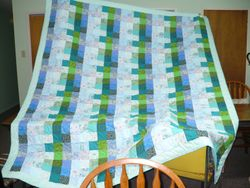 Blue, Green  Quilt for sale