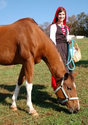 Red Riding Hood and her Trusty Steed ;)
