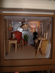 sewing/hobby room