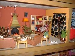 living room with office walk thru adaptation