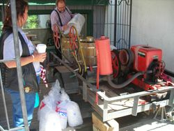 Gas powered Ice Cream Making Machine