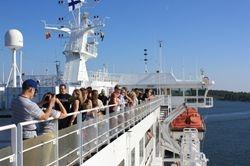 panoramsko razgledanje sa palube