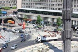 pogled iz Kulturnog centra na glavni trg u Stokholmu