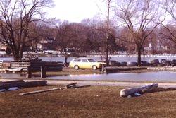 Jim Rusnack's 1973 Chevy Vega near flood