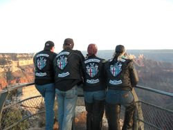 Templars looking out over the North Rim