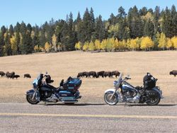 I hope they like Motorcycles, North Rim of the Grand Canyon