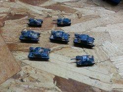 jims 4 brummbar and  3 hetzer tanks