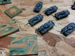 Unmounted artillery bases and panthers
