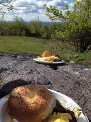 """Literally """"Breakfast on the Mountain"""""""