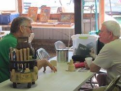 Jim Foster advising Rick Eskins
