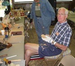 Bruce Nicholas' table