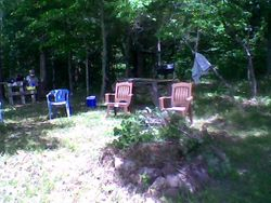 Fire Pit and Tables