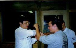 Si-gung-pak YC Yeung and Sifu Awatea