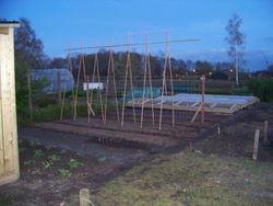 Eerste halve tuin gereed