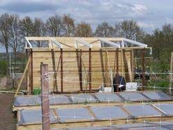 Tuinkas in aanbouw
