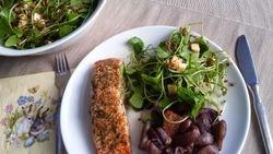 Gegrilde zalm met tonijnsalade