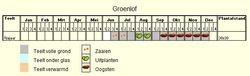 Teeltschema Groenlof