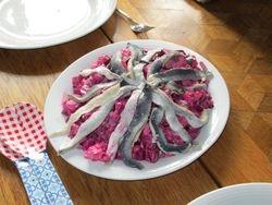 Haring bieten salade