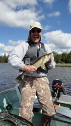 Jim with walleye