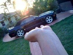 Black Shelby GT500KR convert