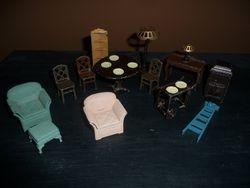 Tootsie Toy Metal Furniture c1920
