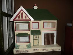 Restored Moko 1930's Dolls House (windows still to be made)