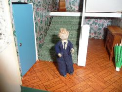 Father Grecon waiting for a Phone Call, phone on way from ebay seller!
