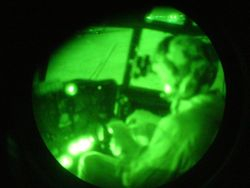 Flying in night vision goggles