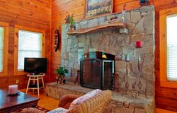 Amazing Rock Fireplace