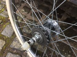 Rear hub after cleaning