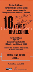 CaL's invite to 16 Years of Alcohol