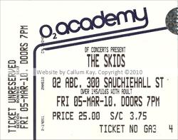 Skids O2 Glasgow 05.03.10