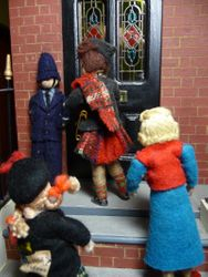 Other than by the discrete presence of PC Bob Bobby on the doorstep, no one would have known that the Queen herself was within the building.