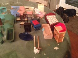 There is a Lot of Plastic and a few Modern Pieces