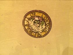 """""""G & J L of LONDON"""" Thistle Stamp"""