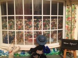 Ophelia and Smokey peered through the shop window.
