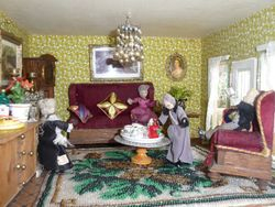 Dorcas and Kitty have a standing arrangement for tea with Melvin and Phyllis at no. 17 on Wednesday afternoons.