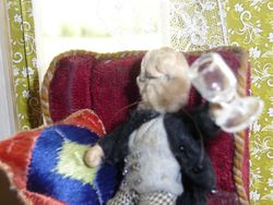 """""""Don't mind if I do, my dear - fill 'er up and bottoms up, what!"""" Melvin gets in first."""