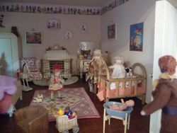 In The Princess 2, Rita sticks her head around the nursery door to find three very excited little girls.