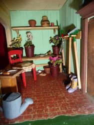 Porch Converted into Potting Shed