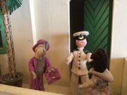 "...one,"" said Liz as Captain Clutch burst through the door."